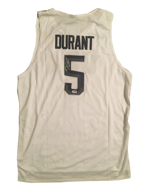 Kevin Durant Autographed Team USA 2016 Olympics Signed Basketball Jersey PSA DNA COA