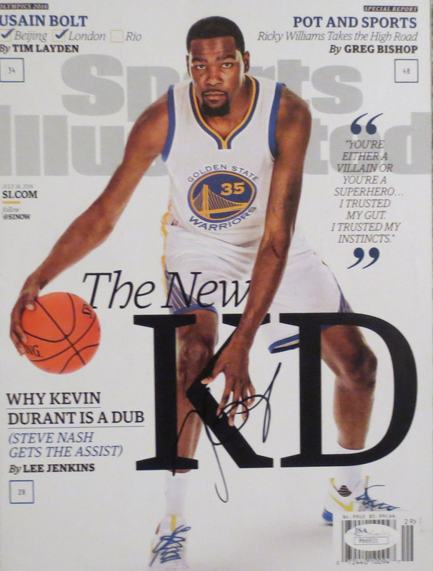 Kevin Durant Autographed Warriors Signed Sports Illustrated SI Basketball Magazine JSA COA 5